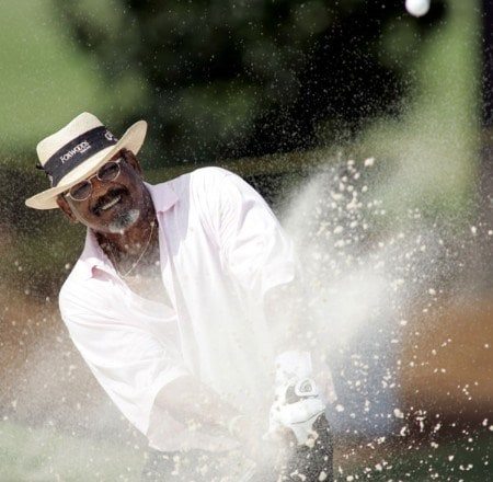 Jim Thorpe hits out of a bunker on the 17th hole during the final round of the 2005 SAS Championship Sunday, Oct. 2, 2005, at Prestonwood Country Club in Cary, N.C.Photo by Grant Halverson/WireImage.com