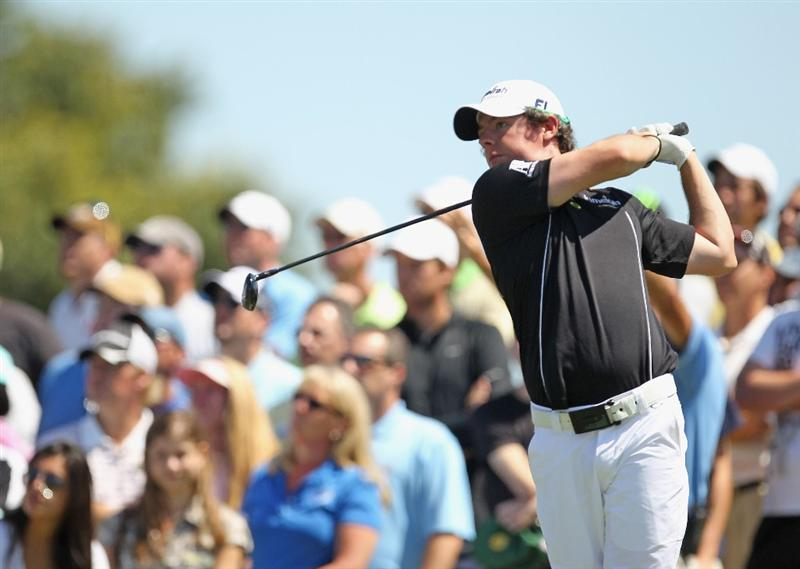 DORAL, FL - MARCH 13:  Rory McIlroy of Northern Ireland watches his tee shot on the second hole during the final round of the 2011 WGC- Cadillac Championship at the TPC Blue Monster at the Doral Golf Resort and Spa on March 13, 2011 in Doral, Florida.  (Photo by Mike Ehrmann/Getty Images)