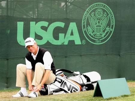 SAN DIEGO - JUNE 9:  Gary Wolstenholme of England waits to see if he gets a start in the 2008 U.S. Open pictured during the first day of previews to the 108th U.S. Open at the Torrey Pines Golf Course (South Course) June 9, 2008 in San Diego, California.  (Photo by Ross Kinnaird/Getty Images)