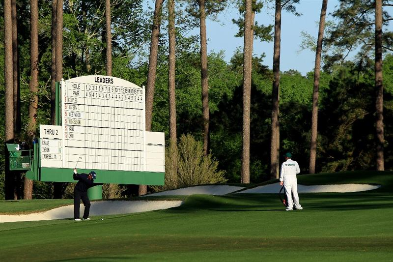 AUGUSTA, GA - APRIL 09:  Michael Campbell of New Zealand hits a shot on the third hole during the second round of the 2010 Masters Tournament at Augusta National Golf Club on April 9, 2010 in Augusta, Georgia.  (Photo by David Cannon/Getty Images)