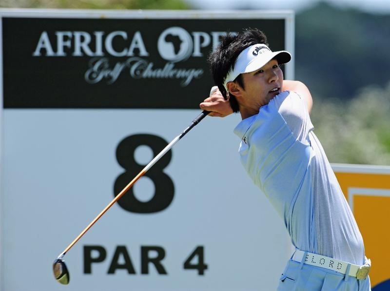 EAST LONDON, SOUTH AFRICA - JANUARY 07:  Danny Lee of New Zealand plays his tee shot on the eighth hole during the first round of the Africa Open at the East London Golf Club on January 7, 2010 in East London, South Africa.  (Photo by Stuart Franklin/Getty Images)