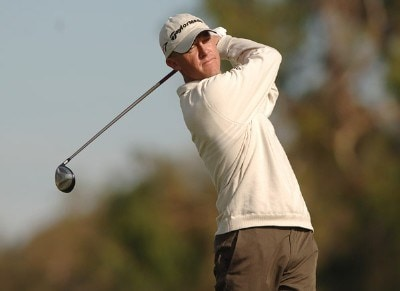 Nathan Green hits from the second tee during the third round of the PGA TOUR's 2006 Buick Invitationa at Torrey Pines South in La Jolla, California January 28, 2006.Photo by Steve Grayson/WireImage.com