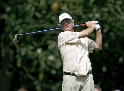 Sandy Lyle during the first round of the 2006 Masters at the Augusta National Golf Club in Augusta, Georgia on April 6, 2006.Photo by Hunter Martin/WireImage.com