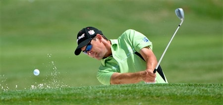 MEMPHIS, TN - JUNE 06: Padraig Harrington hits out of the practice bunker during the second round of the Standford St. Jude Championship at the TPC Southwind on June 6, 2008 in Memphis, Tennessee (Photo by Marc Feldman/Getty Images)