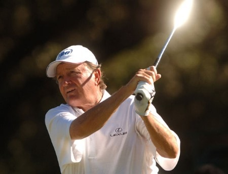 Raymond Floyd hits from the 18th tee during the first round of the Champion's TOUR 2005 SBC Championship at Oak Hills Country Club in San Antonio, Texas October 21, 2005.Photo by Steve Grayson/WireImage.com