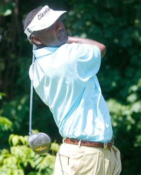CROMWELL, CT - JUNE 19:  Vijay Singh hits a tee shot during the first round of the Travelers Championship held at TPC River Highlands on June  19, 2008 in Cromwell, Connecticut. (Photo by Jim Rogash/Getty Images)