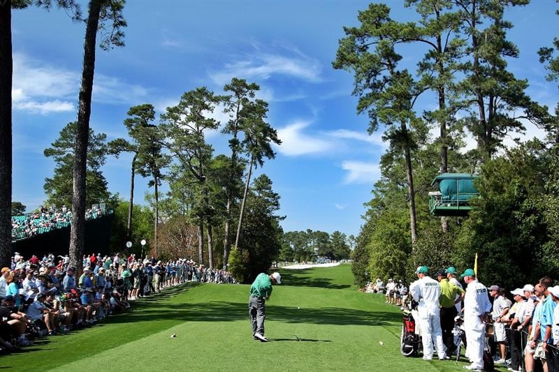 AUGUSTA, GA - APRIL 09:  Amateur Drew Kittleson hits a shot on the 18th hole during the first round of the 2009 Masters Tournament at Augusta National Golf Club on April 9, 2009 in Augusta, Georgia.  (Photo by David Cannon/Getty Images)