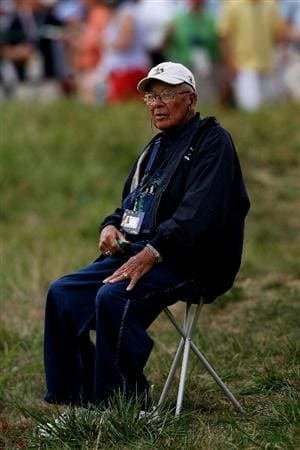 LOUISVILLE, KY - SEPTEMBER 20:  Kenny Perry's father, Ken, watches play on the seventh fairway during the morning foursome matches on day two of the 2008 Ryder Cup at Valhalla Golf Club on September 20, 2008 in Louisville, Kentucky.  (Photo by Andy Lyons/Getty Images)