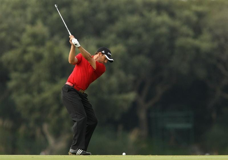 SOTOGRANDE, SPAIN - OCTOBER 29:  Sergio Garcia of Spain plays into the 4th green during the second round of the Andalucia Valderrama Masters at Club de Golf Valderrama on October 29, 2010 in Sotogrande, Spain.  (Photo by Richard Heathcote/Getty Images)