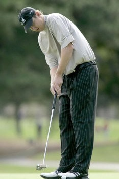 J.J. Henry in action during the second round of the Chrysler Classic of Greensboro at Forest Oaks Country Club in Greensboro, North Carolina on September 30, 2005.Photo by Michael Cohen/WireImage.com