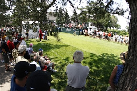 GRAND BLANC, MI - JUNE 26:  John Daly tees off on the first hole during the first round of the Buick Open at Warwick Hills Golf and Country Club on June 26, 2008 in Grand Blanc, Michigan.  (Photo by Gregory Shamus/Getty Images)