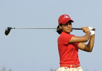Julieta Granada tees off on the second hole during the final round of the 2006 SBS Open at Turtle Bay February 18, 2006 at Kahuku, Hawaii.Photo by Al Messerschmidt/WireImage.com