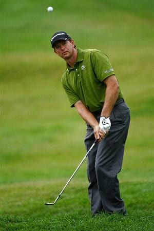 OAKVILLE, ONTARIO, CANADA - JULY 25: Retief Goosen of South Africa plays his third shot on the fifth hole during round two of the RBC Canadian Open at Glen Abbey Golf Club on July 25, 2009 in Oakville, Ontario, Canada.  (Photo by Chris McGrath/Getty Images)