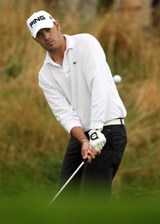 PERTH, UNITED KINGDOM - AUGUST 30:  Gregory Havret of France on the par five 2nd hole during the third round of The Johnnie Walker Championship at Gleneagles on August 30, 2008 at the Gleneagles Hotel and Resort in Perthshire, Scotland.  (Photo by Ross Kinnaird/Getty Images)