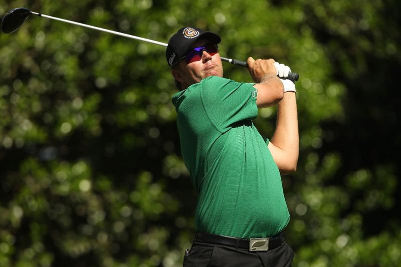CHARLOTTE, NC - APRIL 30:  Bo Van Pelt watches his tee shot on the 11th hole during the second round of the Quail Hollow Championship at Quail Hollow Country Club on April 30, 2010 in Charlotte, North Carolina.  (Photo by Streeter Lecka/Getty Images)