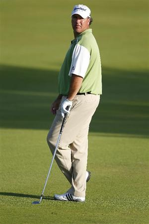PLAYA DEL CARMEN, MEXICO - FEBRUARY 25:  Boo Weekley prepares to hit a shot from the fairway during the second round of the Mayakoba Golf Classic at Riviera Maya-Cancun held at El Camaleon Golf Club on February 25, 2011 in Playa del Carmen, Mexico.  (Photo by Michael Cohen/Getty Images)