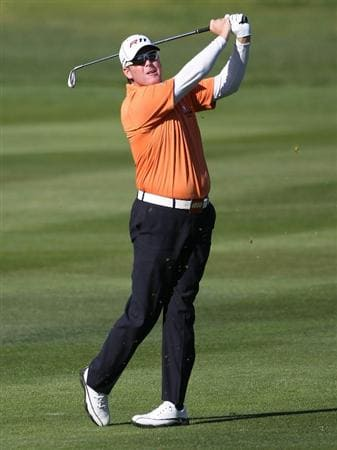PEBBLE BEACH, CA - FEBRUARY 13:  D.A. Points hits from the 2nd fairway at the AT&T Pebble Beach National Pro-Am- Final Round at the Pebble Beach Golf Links on February 13, 2011 in Pebble Beach, California.  (Photo by Jed Jacobsohn/Getty Images)