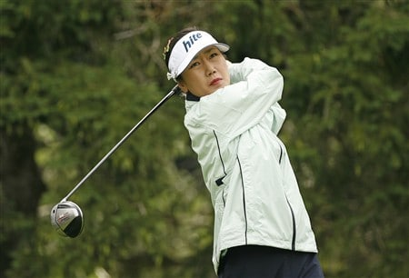 ROCHESTER, NY - JUNE 20: Soo-Yun Kang of Korea hits her tee shot on the 16th hole during the second round of the Wegmans LPGA at Locust Hill Country Club on June 20, 2008 in Rochester, New York. (Photo by Hunter Martin/Getty Images)