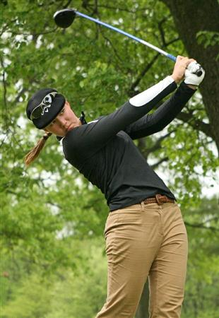 CLIFTON, NJ - MAY 14 : Vicky Hurst hits her tee shot on the 16th hole during the first round of the Sybase Classic presented by ShopRite at Upper Montclair Country Club on May 14, 2009 in Clifton, New Jersey. (Photo by Hunter Martin/Getty Images)