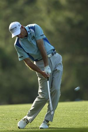AUGUSTA, GA - APRIL 07:  Jim Furyk hits his second shot on the 14th hole during the first round of the 2011 Masters Tournament at Augusta National Golf Club on April 7, 2011 in Augusta, Georgia.  (Photo by Jamie Squire/Getty Images)