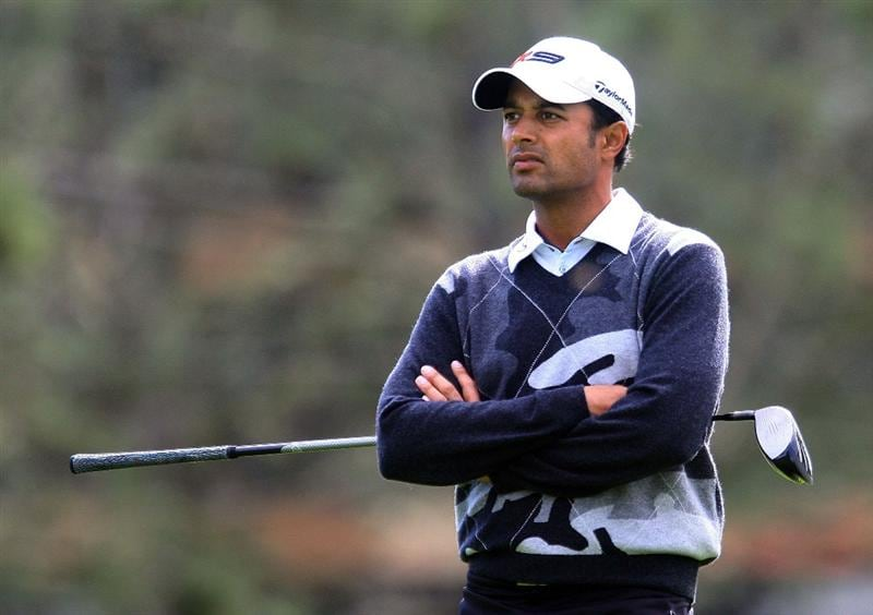 LA JOLLA, CA - FEBRUARY 07:  Arjun Atwal of India waits on a tee during the third round of the Buick Invitational on the South Course at Torrey Pines Golf Course on February 7, 2009 in La Jolla, California.  (Photo by Scott Halleran/Getty Images)