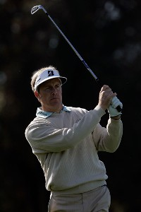 Stuart Appleby of Australia watches his second shot on the 15th hole of the North Course during the first round of the Buick Invitational at the Torrey Pines Golf Course on January 24, 2008 in La Jolla, California. PGA TOUR - 2008 Buick Invitational - Round OnePhoto by Jeff Gross/Getty Images