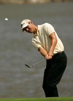 MIAMI - MARCH 21:  Martin Kaymer of Germany hits a shot on the 5th hole during the second round of the World Golf Championships CA Championship at the Doral Golf Resort & Spa on March 21, 2008 in Miami, Florida.  (Photo by Sam Greenwood/Getty Images)