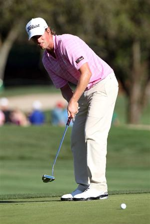 PALM HARBOR, FL - MARCH 19:  Webb Simpson plays a shot on the 18th hole during the third round of the Transitions Championship at Innisbrook Resort and Golf Club on March 19, 2011 in Palm Harbor, Florida.  (Photo by Sam Greenwood/Getty Images)