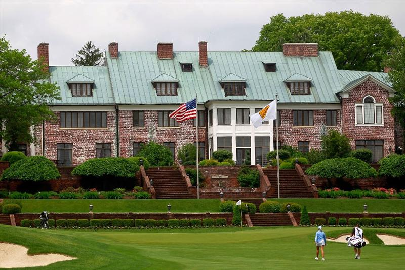 GLADSTONE, NJ - MAY 19: Natalie Gulbis walks to the ninth green during round one of the Sybase Match Play Championship at Hamilton Farm Golf Club on May 19, 2011 in Gladstone, New Jersey.  (Photo by Chris Trotman/Getty Images)