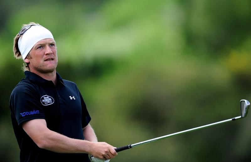 MALLORCA, SPAIN - MAY 15:  Pelle Edberg of Sweden plays his tee shot on the sixth hole during the third round of the Open Cala Millor Mallorca at Pula golf club on May 15, 2010 in Mallorca, Spain.  (Photo by Stuart Franklin/Getty Images)