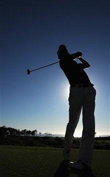 CASCAIS, PORTUGAL - APRIL 02:  Markus Brier of Austria plays a tee shot during pro - am of The Estoril Open de Portugal The Quinta da Marinha Golf Course on April 2, 2008 in Cascais, Portugal.  (Photo by Stuart Franklin/Getty Images)
