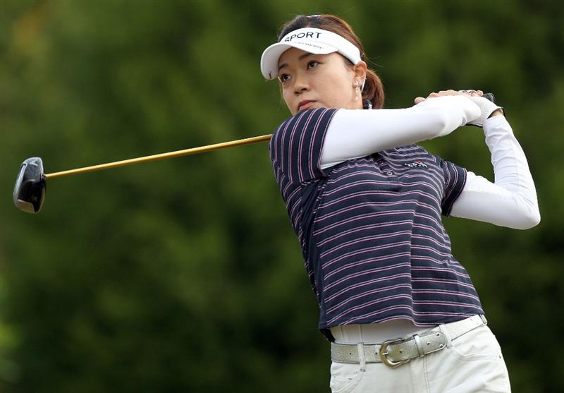 DAYTONA BEACH, FL - DECEMBER 04:  Shiho Oyama of Japan plays a shot on the 4th hole during the second round of the LPGA Qualifying School at LPGA International on December 4, 2008 in Daytona Beach, Florida.  (Photo by Sam Greenwood/Getty Images)
