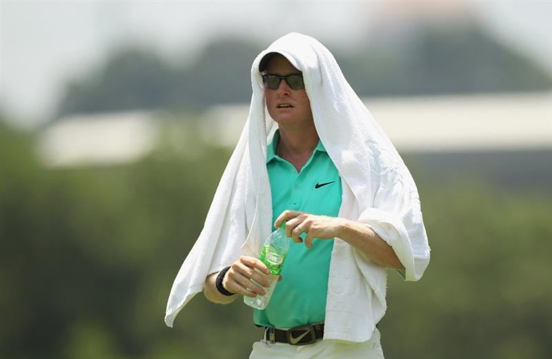 KUALA LUMPUR, MALAYSIA - APRIL 17:  Simon Dyson of England looks on during 4th round of the Maybank Malaysian Open at Kuala Lumpur Golf & Country Club on April 17, 2011 in Kuala Lumpur, Malaysia.  (Photo by Ian Walton/Getty Images)