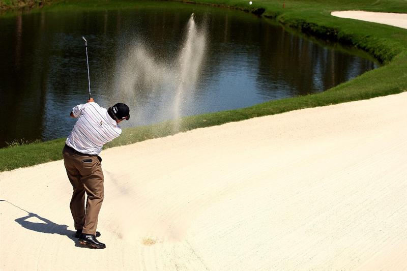 PONTE VEDRA BEACH, FL - MAY 09:  Angel Cabrera of Argentina plays from a bunker on the fifth hole during the third round of THE PLAYERS Championship on THE PLAYERS Stadium Course at TPC Sawgrass on May 9, 2009 in Ponte Vedra Beach, Florida.  (Photo by Scott Halleran/Getty Images)