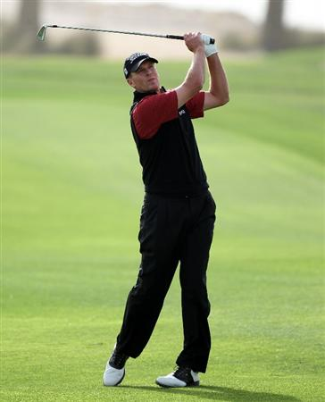 DOHA, QATAR - FEBRUARY 03:  Steve Stricker of the USA during the first round of the Commercialbank Qatar Masters at the Doha Golf Club on February 3, 2011 in Doha, Qatar.  (Photo by Ross Kinnaird/Getty Images)