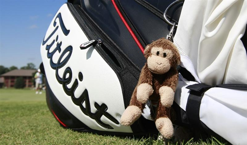 PRATTVILLE, AL - OCTOBER 2:  A small stuffed animal hangs from the bag of South Korean golfer Sun Young Yoo on the 10th hole during second round play in the Navistar LPGA Classic at the Robert Trent Jones Golf Trail at Capitol Hill on October 2, 2009 in  Prattville, Alabama.  (Photo by Dave Martin/Getty Images)