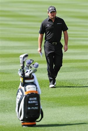 MARANA, AZ - FEBRUARY 24:  Graeme McDowell of Northern Ireland walks during the second round of the Accenture Match Play Championship at the Ritz-Carlton Golf Club on February 24, 2011 in Marana, Arizona.  (Photo by Stuart Franklin/Getty Images)