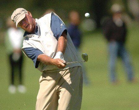 Tom Jenkins hits an approach shot to the seventh hole during the second round of the Champions' Tour 2005 Toshiba Senior Classic at  the Newport Beach Country Club in Newport Beach, California March 20, 2005.