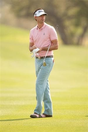 SAN ANTONIO, TX - APRIL 16: Cameron Tringale walks in the fairway during the third round of the Valero Texas Open at the AT&T Oaks Course at TPC San Antonio on April 16, 2011 in San Antonio, Texas. (Photo by Darren Carroll/Getty Images)