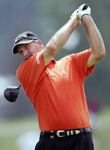R.W. Eaks during the second round of the Ford Senior Players Championship held at TPC Michigan in Dearborn, Michigan, on July 14, 2006.Photo by Gregory Shamus/WireImage.com