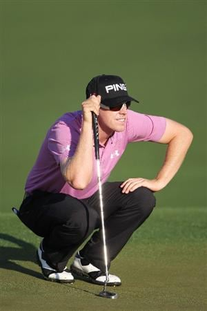 AUGUSTA, GA - APRIL 06:  Hunter Mahan looks over a green during a practice round prior to the 2010 Masters Tournament at Augusta National Golf Club on April 6, 2010 in Augusta, Georgia.  (Photo by Jamie Squire/Getty Images)