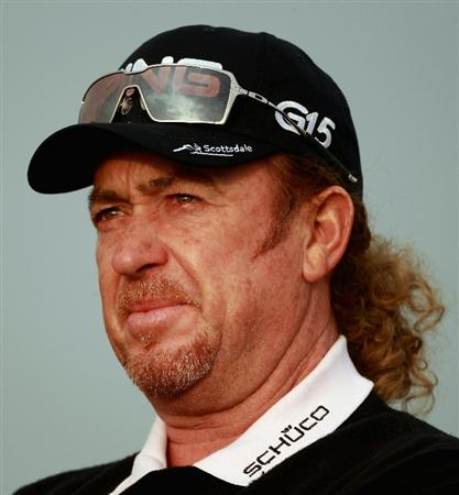 ABU DHABI, UNITED ARAB EMIRATES - JANUARY 19:  Miguel Angel Jimenez of Spain in action during the Pro Am prior to the start of The Abu Dhabi HSBC Golf Championship at Abu Dhabi Golf Club on on January 19, 2011 in Abu Dhabi, United Arab Emirates.  (Photo by Andrew Redington/Getty Images)