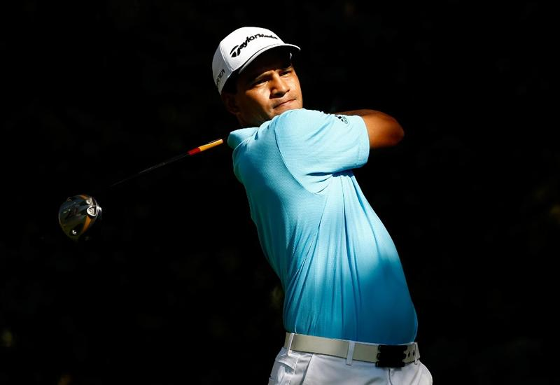 BOISE, ID - SEPTEMBER 18:  Fabian Gomez tees off on the 2nd hole during the second round of the Albertson's Boise Open at Hillcrest Country Club on September 18, 2009 in Boise, Idaho.  (Photo by Jonathan Ferrey/Getty Images)