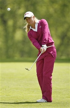 ROCHESTER, NY - JUNE 19: Suzann Pettersen of Norway hits her third shot on the 8th hole during the first round of the Wegmans LPGA at Locust Hill Country Club on June 19, 2008 in Rochester, New York. (Photo by Hunter Martin/Getty Images)