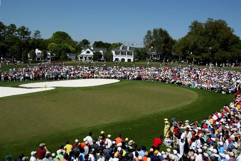 AUGUSTA, GA - APRIL 12: The ninth green is seen during the final round of the 2009 Masters Tournament at Augusta National Golf Club on April 12, 2009 in Augusta, Georgia.  (Photo by David Cannon/Getty Images)