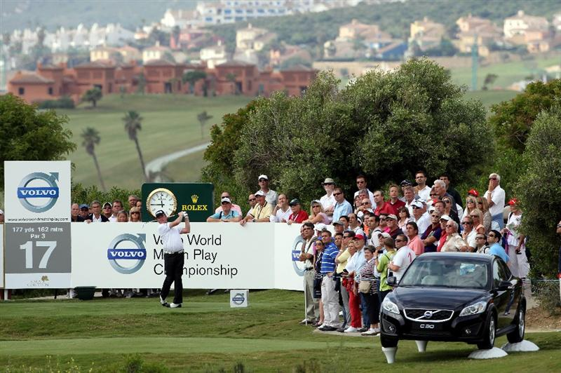 CASARES, SPAIN - MAY 20:  Miguel Angel Jimenez of Spain in action during the group stages of the Volvo World Match Play Championship at Finca Cortesin on May 20, 2011 in Casares, Spain.  (Photo by Andrew Redington/Getty Images)