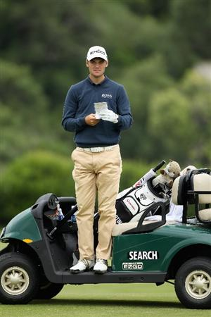 CASARES, SPAIN - MAY 17:  Martin Kaymer of Germany looks on from the 11th hole during practice for the Volvo World Match Play Championship at Finca Cortesin on May 17, 2011 in Casares, Spain.  (Photo by Warren Little/Getty Images)