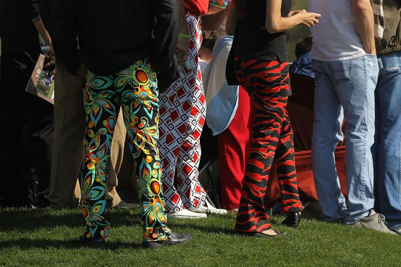 PEBBLE BEACH, CA - FEBRUARY 13:  Fans of John Daly during round three of the AT&T Pebble Beach National Pro-Am at Pebble Beach Golf Links on February 13, 2010 in Pebble Beach, California.  (Photo by Ezra Shaw/Getty Images)