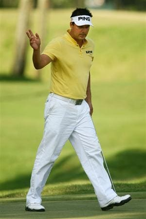 PONTE VEDRA BEACH, FL - MAY 08:  Daniel Chopra of Sweden celebrates a birdie putt on the sixth hole during the second round of THE PLAYERS Championship on THE PLAYERS Stadium Course at TPC Sawgrass on May 8, 2009 in Ponte Vedra Beach, Florida.  (Photo by Scott Halleran/Getty Images)