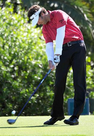 PALM COAST, FL - OCTOBER 30:  Michael Letzig plays a shot on the 16th hole during the first round of the Ginn sur Mer Classic at the Conservatory Golf Club October 30, 2008 in Palm Coast, Florida.  (Photo by Sam Greenwood/Getty Images)